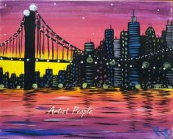 Sip n Paint - NY Sunset