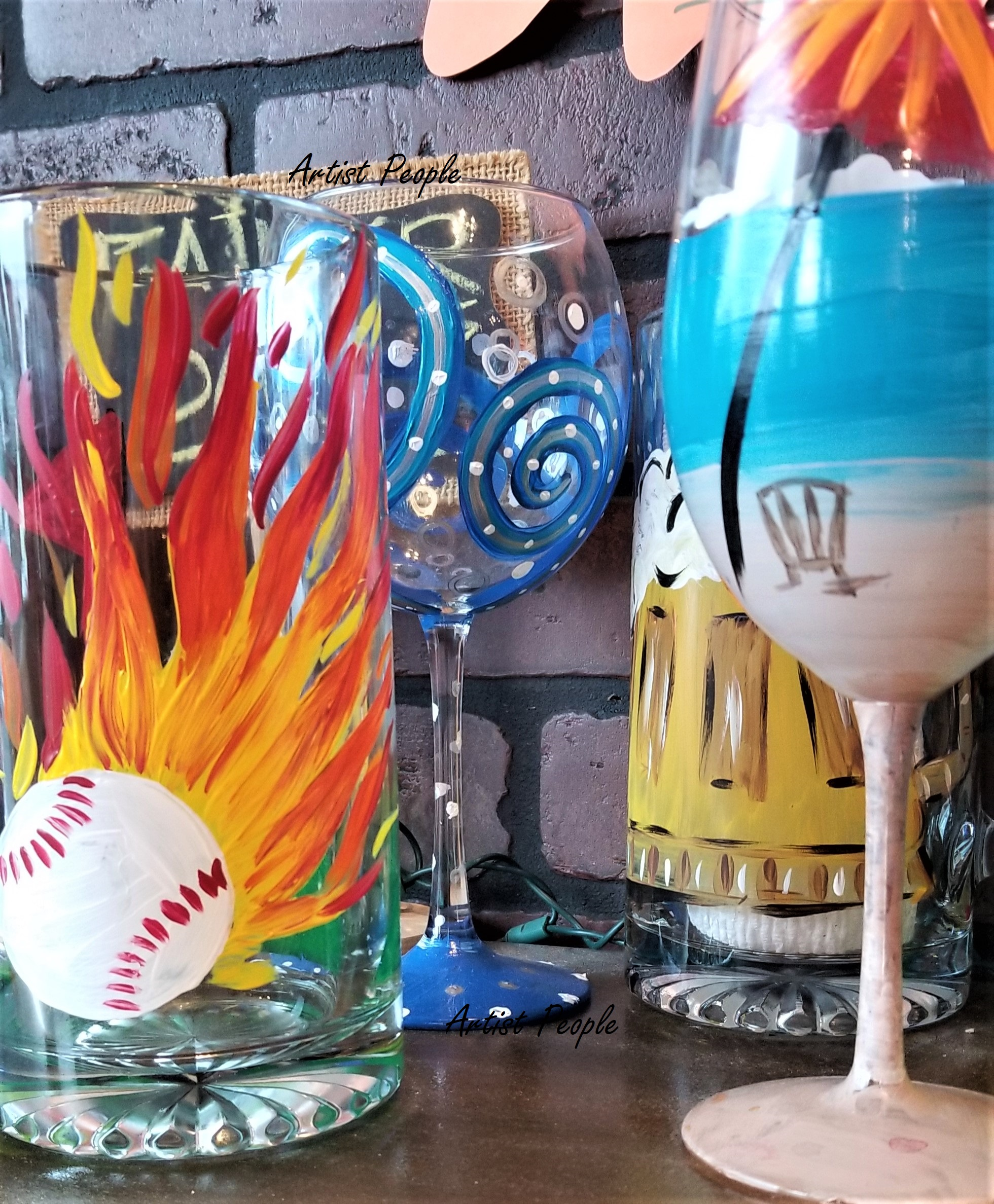 Sip Paint - Beer mug/Wine glass