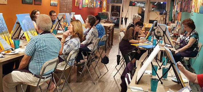 artist people wine and painting party in new jersey fun paint