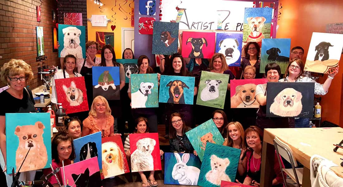 fundraisers wine and painting party in new jersey fun paint
